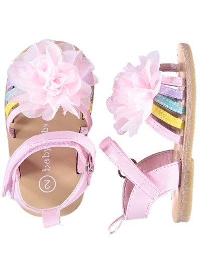 Baby Girl Hard Sole Flower Sandal