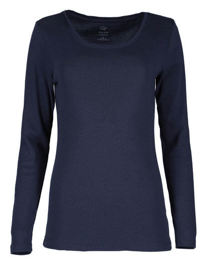 99665ca14f68a Womens Plus Cotton Long Sleeve Top