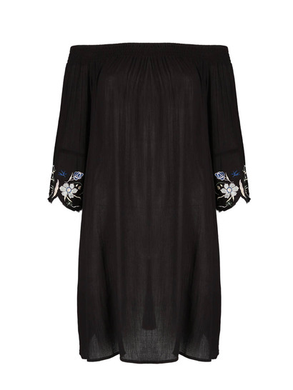 Womens Embroidery  Sleeve Dress