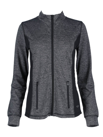 Elite Long Sleeve Zip Through Top Womens