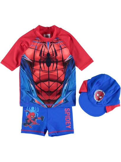Toddler Boys 3Pc Spiderman Swim Set
