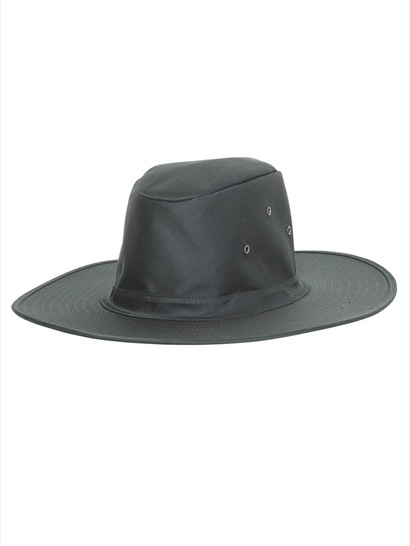 BOTTLE GREEN KIDS WIDE BRIM HAT