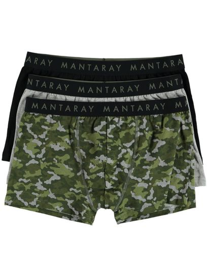 Mens 3Pk Fitted Trunk