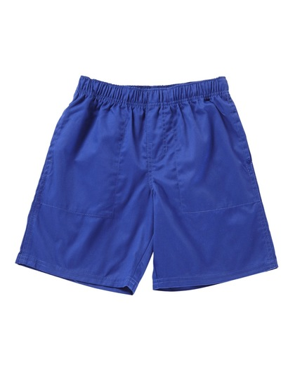 ROYAL BLUE BOYS PLAIN DRILL SHORTS