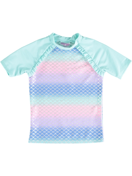 Girls Mermaid Ombre Rashi | Tuggl