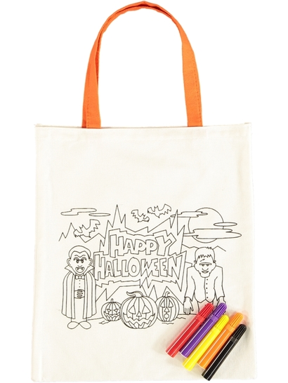 Kids Halloween Drawing  Bags