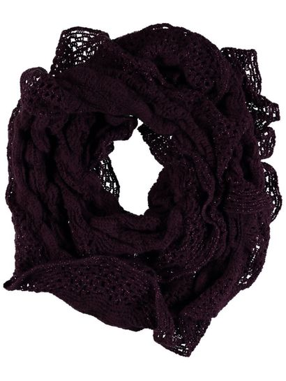 Women Frill Lurex Snood