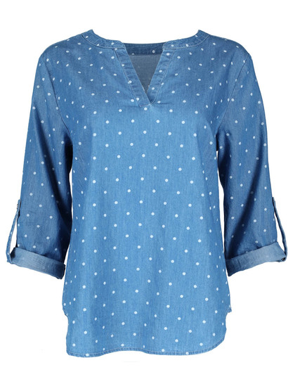 Printed Chambray Shirt Womens