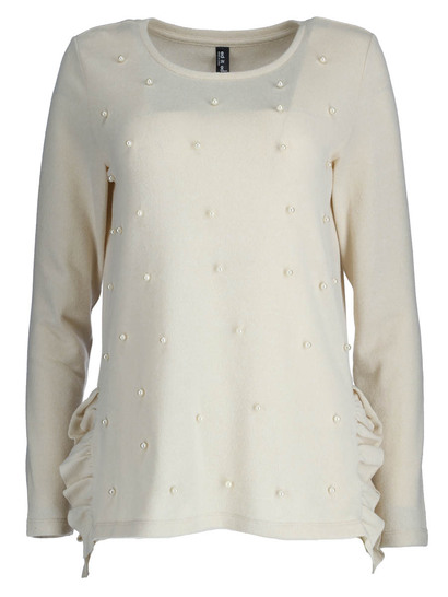 Frill Hem Embellished Top Womens