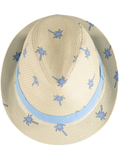 Toddler Boy Printed Fedora