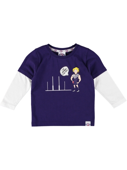 Toddlers Afl Double Sleeve Tee
