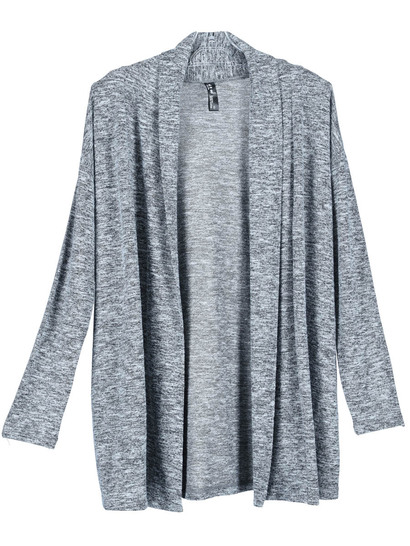 Plus Space-Dye Shawl Collar Cardi Womens