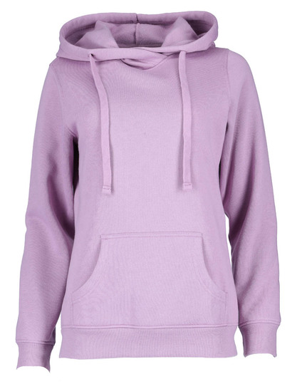 Crossover Neck Hooded Fleece Womens
