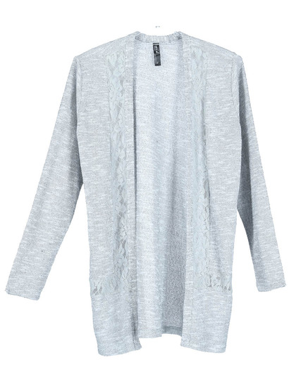 Plus Lace Trim Cardi Womens