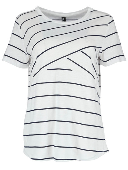 Womens Splice Stripe Tee