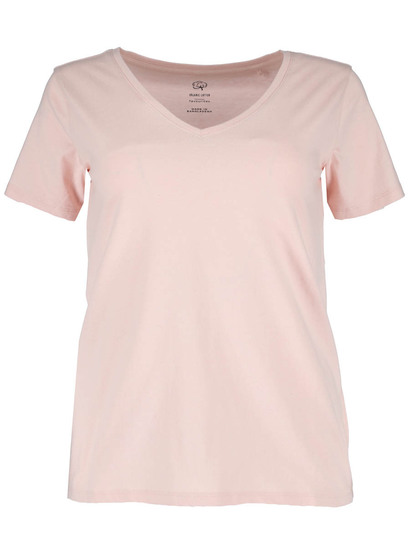 Plus Organic Cotton V-Neck Tee Womens