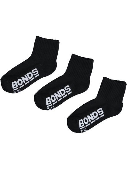 Boys Logo Quarter Crew 3-Pack