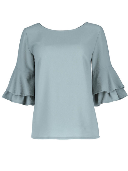 Double Frill Sleeve Top Womens