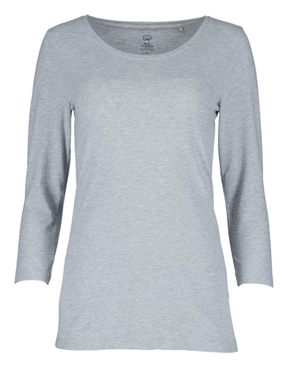 Womens Organic Cotton 3/4 Sleeve Top