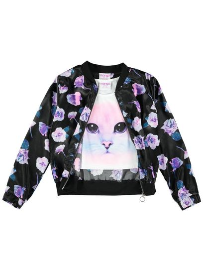 Girls Bomber Jacket And Top Set