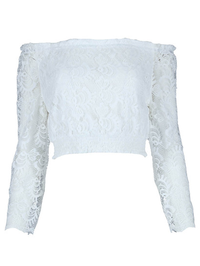 Miss Mango Lace Bardot Top