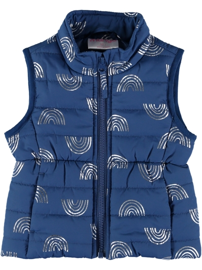 Toddler Girl Puffa Print Vest