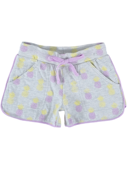 Toddler Girls Piped Short