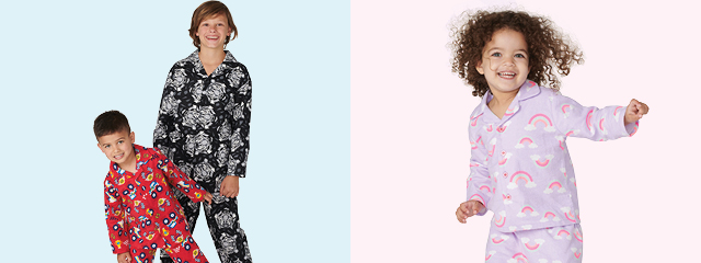 NEW SLEEPWEAR SETS FOR THE KIDS