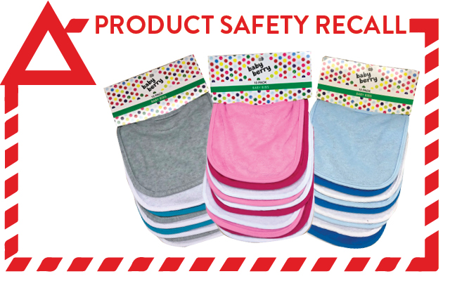 Product Recall - Baby Berry Bibs