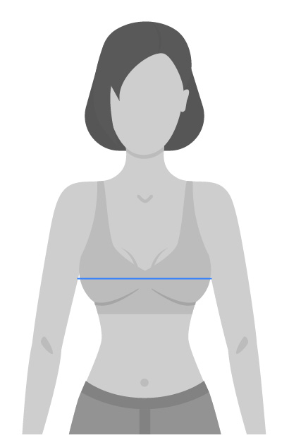 Womens Bras Measuring Guide - Bust and Cup size
