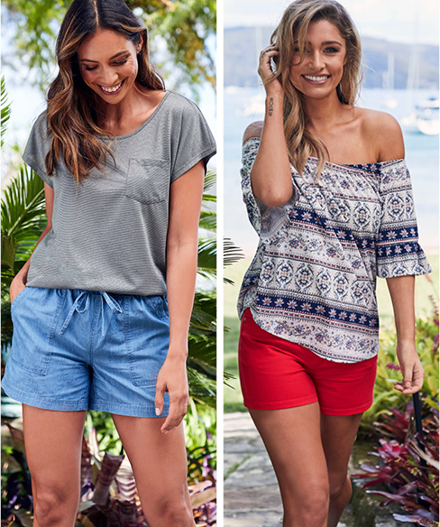 Women's Tops and Shorts