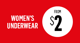 Women's underwear from $2