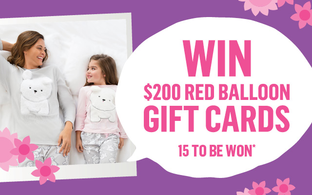 Win 1 of 15 $200 Red Balloon Gift Cards